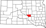 State map highlighting Buffalo County
