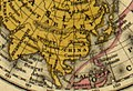 Map of Tibet (Thibet) and Lhasa (Lassa) in 1839, Polar projection, from Mitchell's School Atlas LOC 2007633727-4 (cropped).jpg