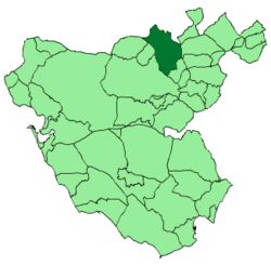 Location of Villamartín