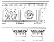 drawing of architectural detail