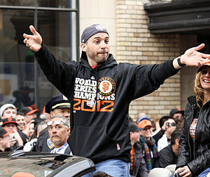 Marco Scutaro - Scutaro during the 2012 San Francisco Giants World Champions Homecoming Parade