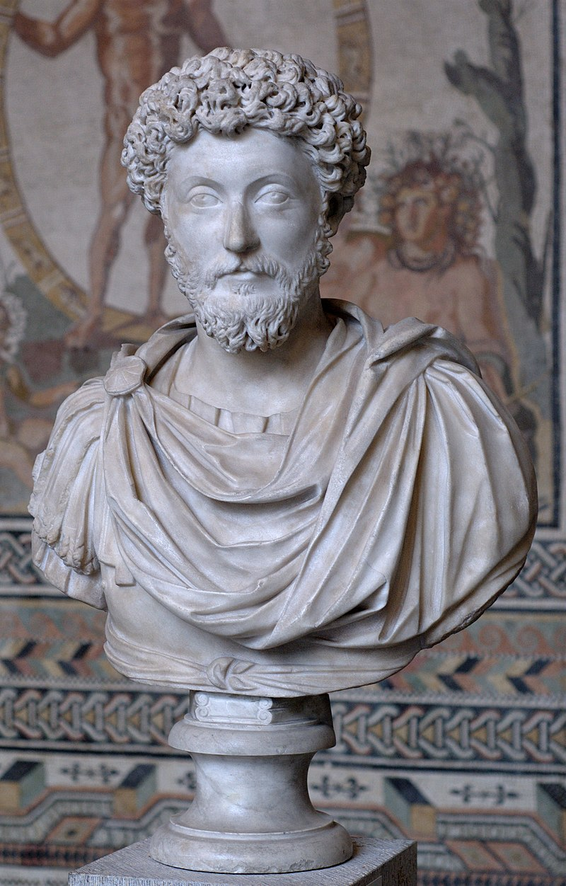Busta Marka Aurelia v mnichovské Glyptotéce