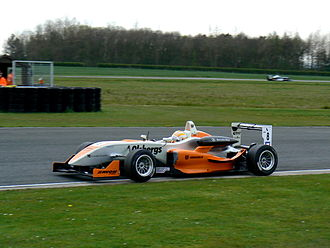 Marcus Ericsson - Ericsson driving for Fortec Motorsport at the Croft round of the 2008 British Formula Three Championship.