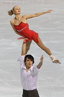 Maria Mukhortova and Maxim Trankov at 2010 European Championships (3).jpg