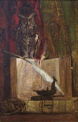 Maria Richards Oakey - 'The Philosopher's Corner', 1873, High Museum