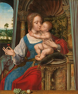 Madonna and Child Kissing - Image: Maria met kind Rijksmuseum SK A 247