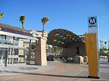 One of the entrances to Mariachi Plaza station.