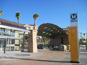 Boyle Heights, Los Angeles - The Mariachi Plaza station, 2009, one of two underground stations in Boyle Heights
