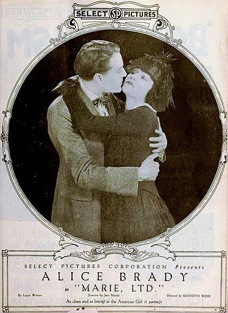 Jane Murfin - Ad for Marie, Ltd. (1919)