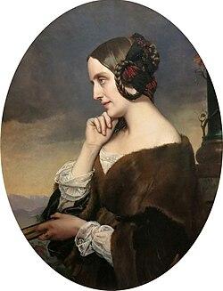 Marie d'agoult by henri lehmann (02)