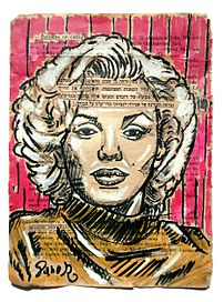 Marilyn Monroe Painting Collage Art On Book Pages By Danor Shtruzman.jpg