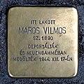 Maros Vilmos stolperstein (Budapest-13 Hegedűs Gyula u 8b).jpg