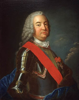 Pierre de Rigaud, marquis de Vaudreuil-Cavagnial - Portrait of Vaudreuil by Donat Nonnotte