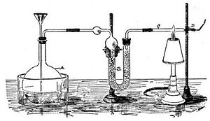Forensic science - Apparatus for the arsenic test, devised by James Marsh.