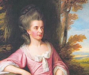 Martha Ray - Martha Ray by Nathaniel Dance, 1777 (detail of larger portrait)