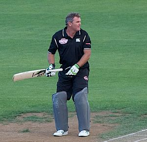 Martin Crowe - Crowe batting in a charity game in 2011