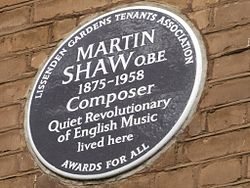 Martin shaw plaque in london