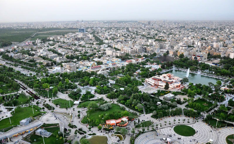 Panoramic view of Mashhad from Koohsangi