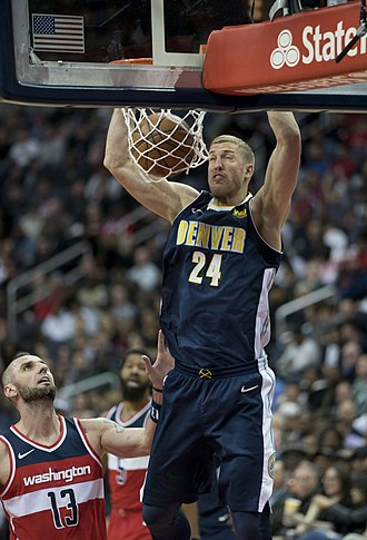 Mason Plumlee - Plumlee with the Nuggets in 2018
