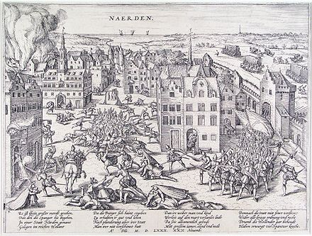 Massacre of Naarden in 1572 Massacre of Naarden (1572) - Bloedbad van Naarden (Frans Hogenberg).jpg