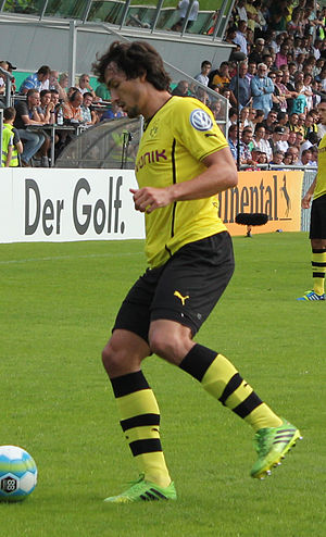 Mats Hummels - Hummels in action for Borussia Dortmund in 2013