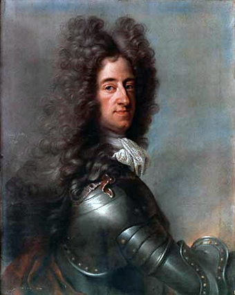 Max Emanuel (1662-1726) by Joseph Vivien. The Elector of Bavaria was Eugene's early mentor before becoming his opponent in the War of the Spanish Succession. Max II. Emanuel.png
