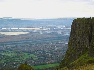 Cavehill - McArt's fort with Belfast in the background