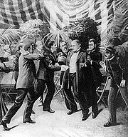 Leon Czolgosz shoots President McKinley with a concealed revolver.