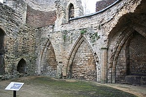 Lincoln Medieval Bishop's Palace - Image: Medieval Kitchen geograph.org.uk 495060