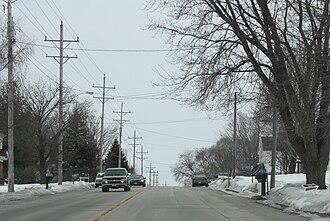 Medina, Outagamie County, Wisconsin - Image: Medina Wisconsin Downtown WIS96
