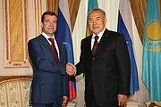 Medvedev and Nazarbayev