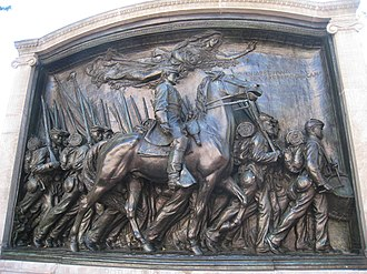"""For the Union Dead - Memorial to Robert Gould Shaw and the 54th Massachusetts Volunteer Infantry Regiment in Boston that figures prominently in Lowell's poem """"For the Union Dead"""""""
