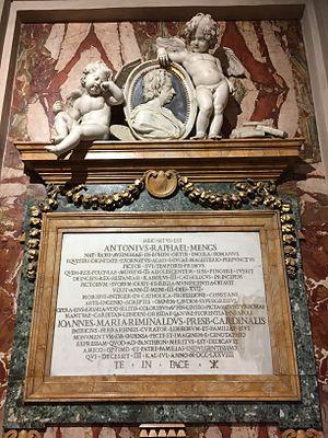 Anton Raphael Mengs - Anton Raphael Mengs' grave in Rome