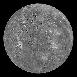 Composite image of Mercury taken by MESSENGER probe