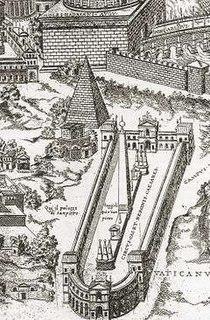 Meta Romuli Pyramid in Rome (1st Century B.C.)