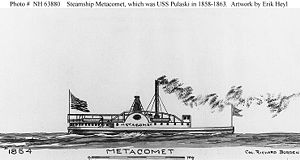 Sketch of the Metacomet (later USS Pulaski)