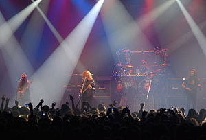 Megadeth discography - Megadeth performing at Metalmania in 2008
