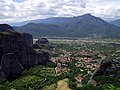 Meteoras' karstic landscapes as seen from main cloister - panoramio.jpg