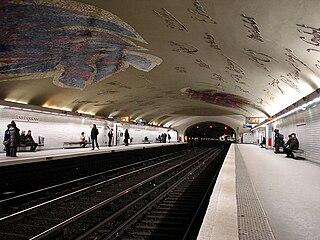 Paris Métro station in France
