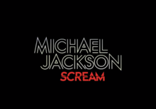 Description de l'image Michael Jackson - Scream (Album).png.