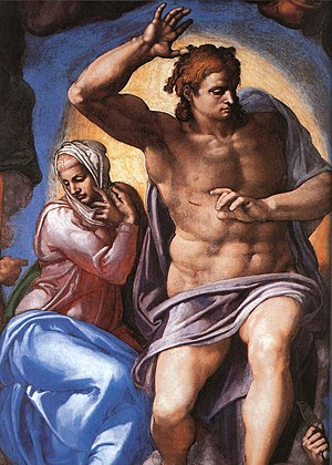 The Last Judgment (Michelangelo) - Mary and Christ