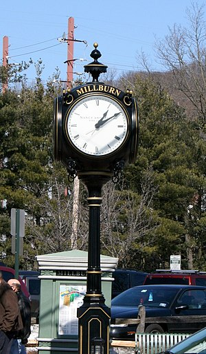 Millburn, New Jersey - Clock tower at the intersection of Main and Essex Streets