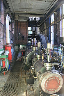 "Mill engine ""Edna"" at Bamford Mill - geograph.org.uk - 257483.jpg"