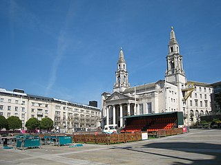 Millennium Square, Leeds city square in Leeds, West Yorkshire, England