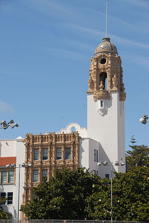 Mission High School (San Francisco) - The high school tower