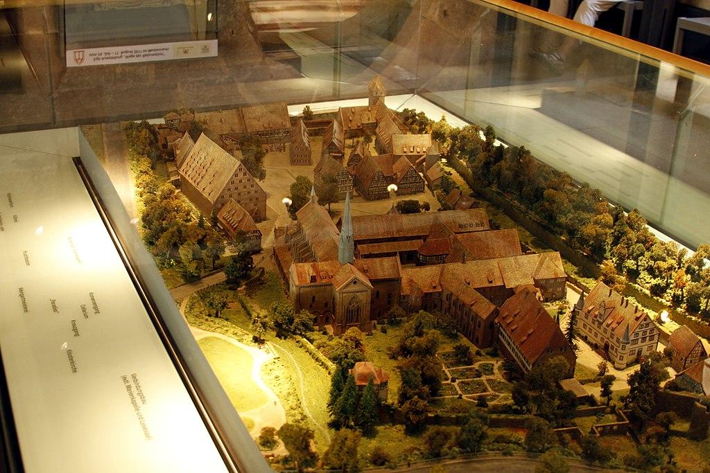 Model of Maulbronn Monastery Complex - Maulbronn - Germany 2017