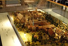 Pictured here is a scale model of the monastery complex