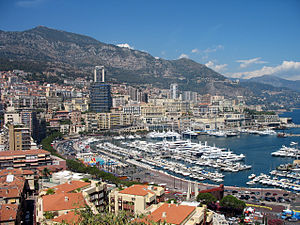English: View of Monaco, Harbour and parts of ...