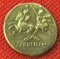 Monetiere di fi, moneta romana repubblicana con dioscuri 04.JPG