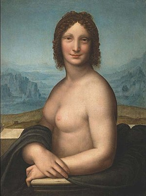 Vanna - Monna Vanna - a nude version of the Mona Lisa painted by Salaì.